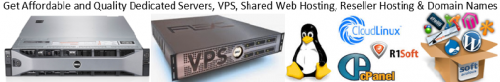 Dedicated servers VPS Shared Web hosting Resellers and Domain Names
