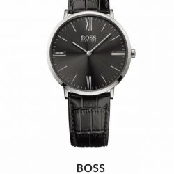 BOSS - Men's Jackson Ultra Slim Black Strap Watch