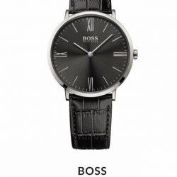 BOSS - Men's Jackson Ultra Slim Black Strap Watch
