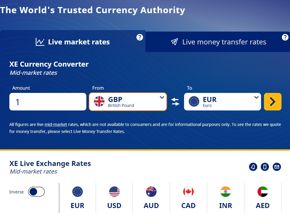 Live World Currency Converter